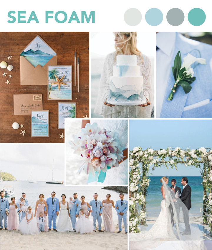 BEACH WEDDING COLOUR PALETTES