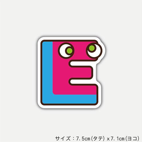 "Stickers ALPHABETER'S""E""(2枚)"