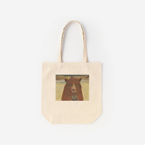 Tote-Bag  BEAR IN FRONT OF A BOY