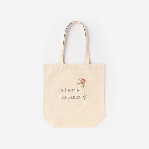 Tote-Bag Dear Je t' aime ma puce
