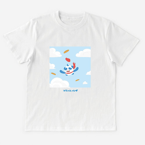 T-Shirt Panda in the sky