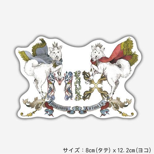 Stickers 架空動物MIX:Capricornis Crispus MIX Canis Lupus(2枚)