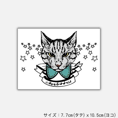 Stickers きらきらネコ(2枚)