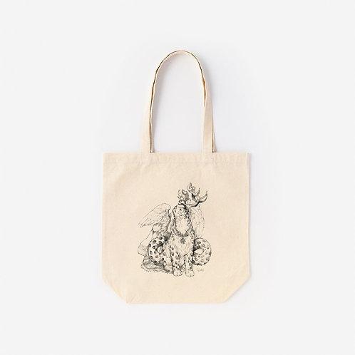 Tote-Bag 架空動物 MIX:Snow Leopard MIX Bewick's Swan
