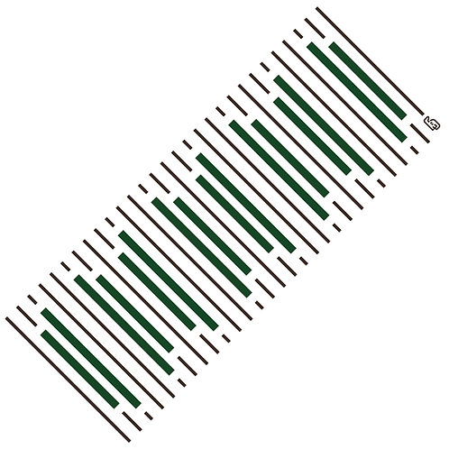 Tenugui ivy stripe