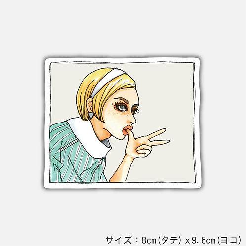 Stickers Scissors Paper Stone[SCISSORS](2枚)