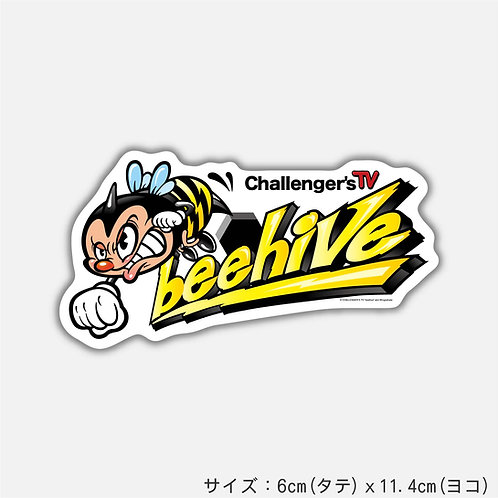 Stickers CHALLENGER' S TV  beehive A(2枚)