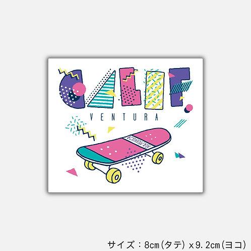 Stickers happy skateboard(2枚)