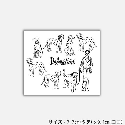 Stickers Dalmatian(2枚)