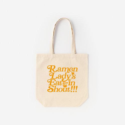Tote-Bag Ramen Lady's Eat in Shout!