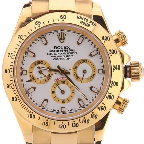 1801c6a7573 Rolex Daytona Gold Branco. R 499.00