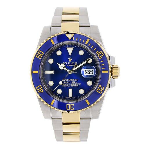 bb3273f3cde Rolex Submariner Gold Blue 40 mm. R 499.00