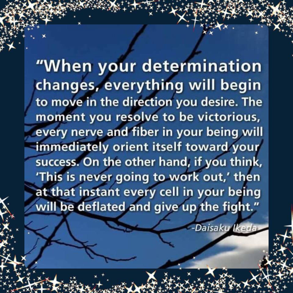 Are you determined enough?