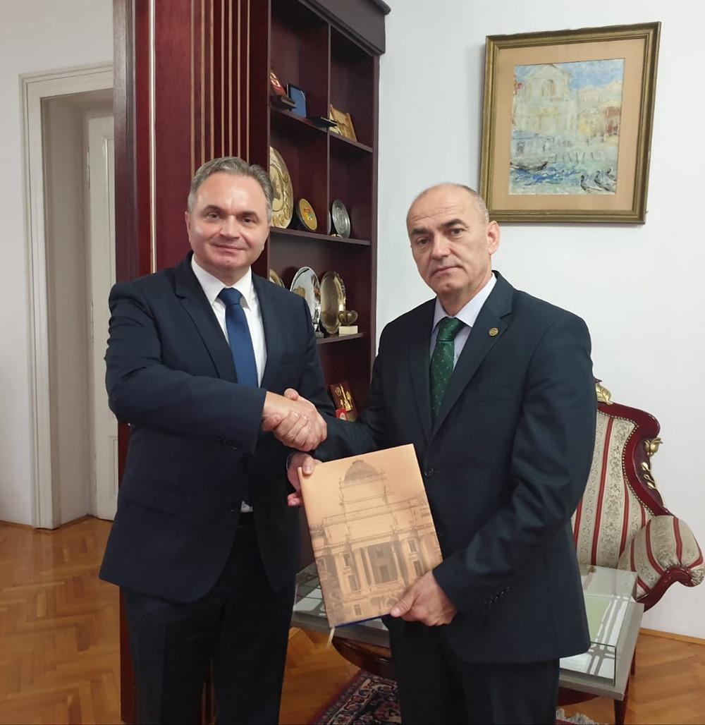 doc. dr. Zijad Bećirović (lijevo), prof. dr. Rifat Škrijelj