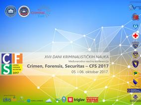 """Održana Međunarodna naučna konferencija pod nazivom """"Crimen, Forensis, Securitas – CFS 2017"""" 5. – 6."""