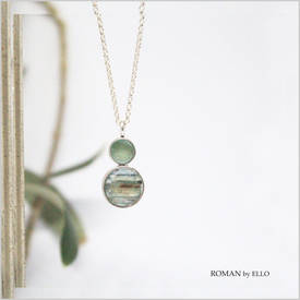 AURORA NECKLACE WITH ROMAN GLASS