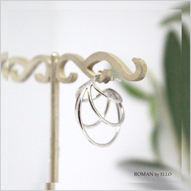 ORBIT SMALL EARRINGS WITH ROMAN GLASS