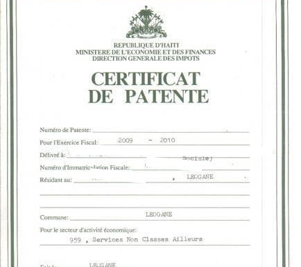 Comment Obtenir Une Patente En Haïti ?