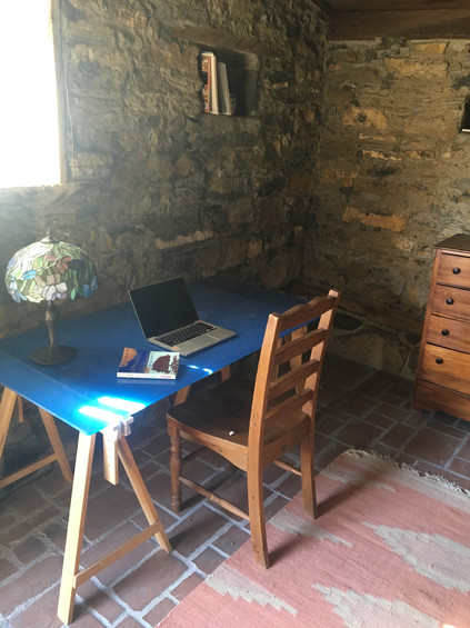 Writing in the Stone Cabin