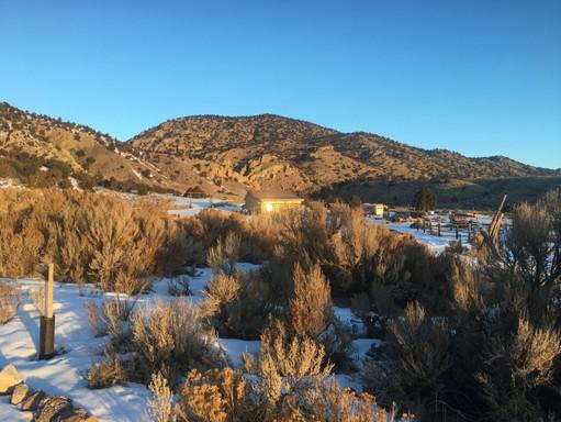 Sunrise on the Snowy Desert