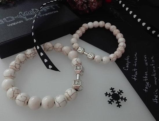 Set Bratari Pereche White  - SE053