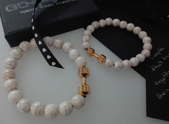 Set Bratari Pereche Gold&White - SE054