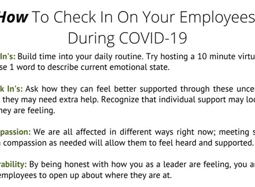 COVID-19 - How To Check In On Your Employees