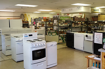 appliance showroom stoves dishwashers microwaves appliance parts