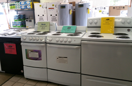 dishwashers stoves ranges water heaters refrigerators