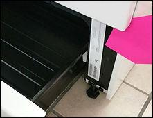 inside of range drawer has model and serial number