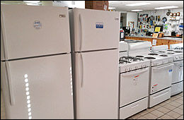 appliances refrigerators stoves