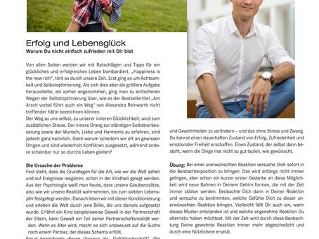 Erfolg und Lebensglück - Artikel im Filter Magazin Juli 2019