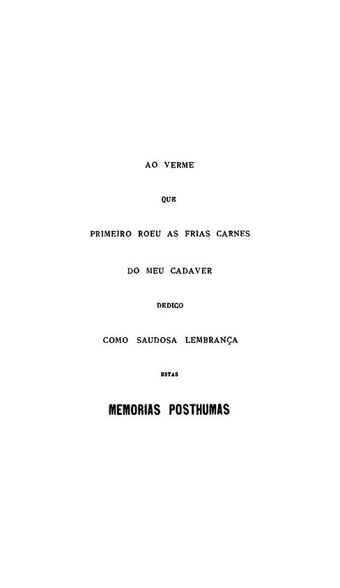 Memorias posthumas de Braz Cubas_Machado
