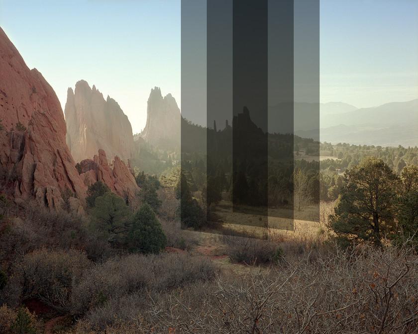 Untitled, Digital intervension, medium format film, 2020