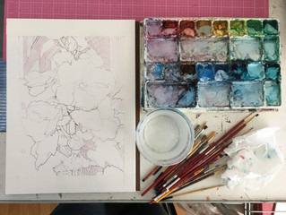 New 9x12 watercolor in the works!