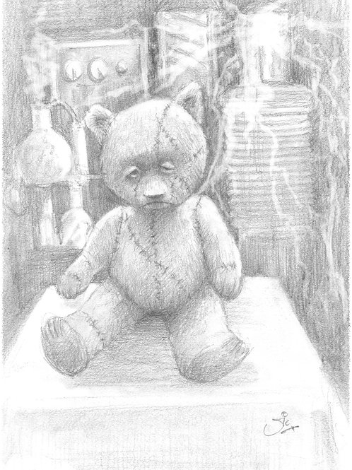 'Frankenstein's Teddy' Original Sketch