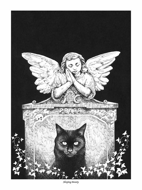 'SLEEPING BEAUTY' OPEN EDITION GOTHIC PRINT