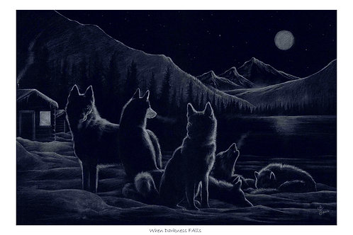 'WHEN DARKNESS FALLS' LIMITED EDITION PRINT