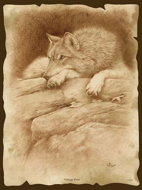 'VANTAGE POINT' LIMITED EDITION WOLF PRINT