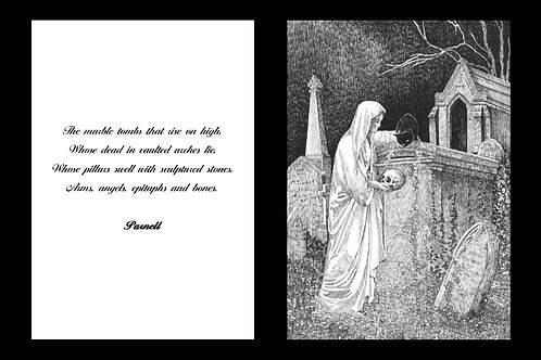 'EPITAPHS & BONES' MOUNTED OPEN EDITION PRINT AND ACCOMPANYING VERSE
