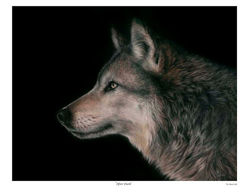 'AFTER DARK'LIMITED EDITION WOLF PRINT