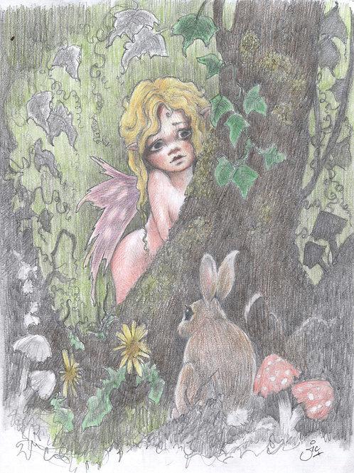 'Bunny Wood' Original Sketch