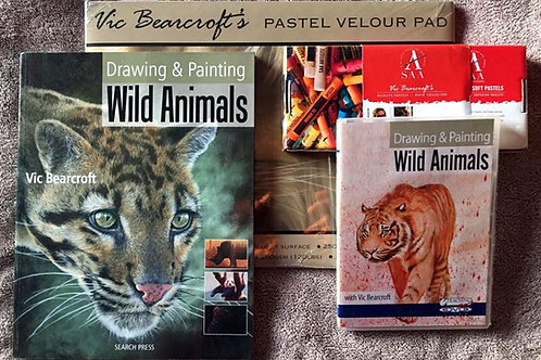 DRAWING & PAINTING WILD ANIMALS BASIC PASTEL BUNDLE
