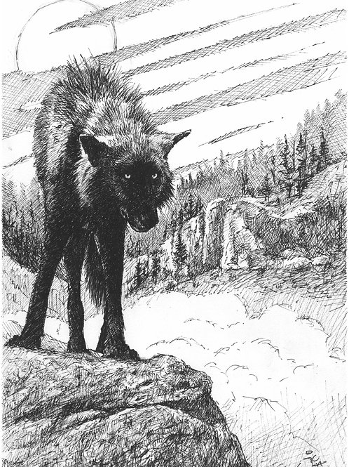 'The Council Rock' Original Sketch