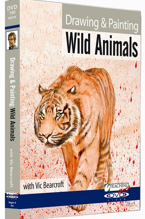 DRAWING & PAINTING WILD ANIMALS DVD