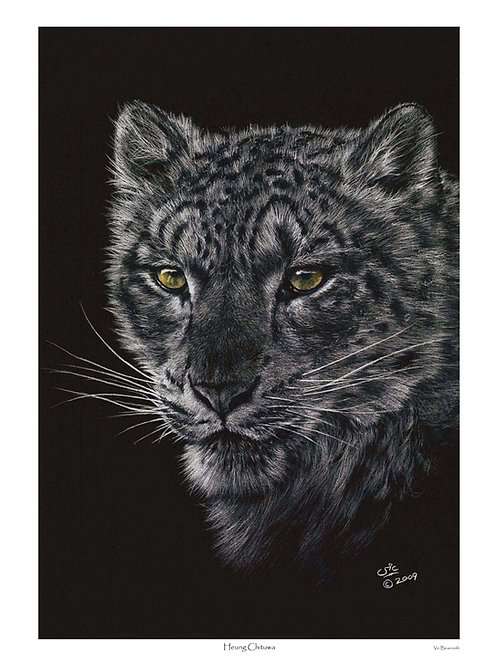 'HEUNG CHITUWA' LIMITED EDITION SNOW LEOPARD PRINT