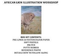 African Lion Illustration Workshop kit