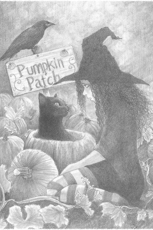 'The Pumpkin Patch' Original Drawing