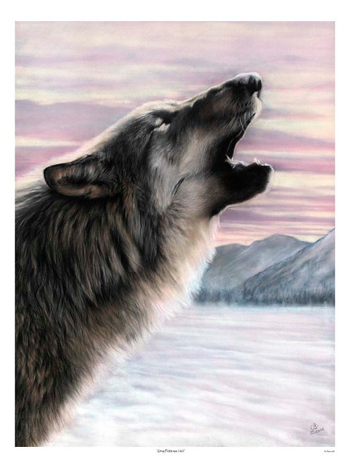 'LONG DISTANCE CALL' LIMITED EDITION WOLF PRINT