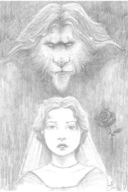 'Beauty and the Beast' Original Sketch